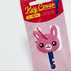 Daiso Pink Bunny Key Cover